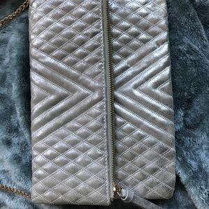 Madison West Carly Crossbody bag in Pewter.